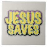 Jesus Saves Tile
