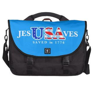 Jesus Saves USA Rickshaw Bag Laptop Bags