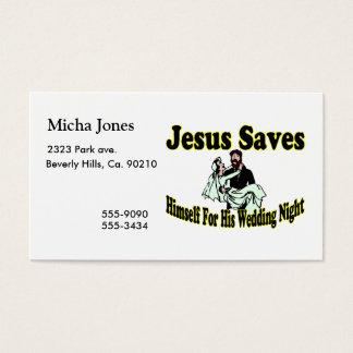 Jesus Saves Wedding Night Business Card