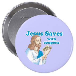 JESUS SAVES WITH COUPONS PINS