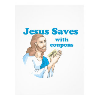 JESUS SAVES WITH COUPONS FLYERS