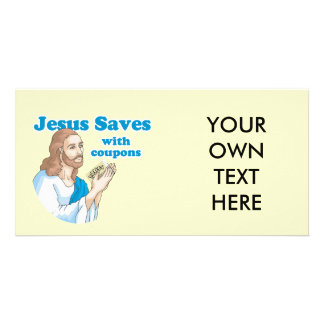 JESUS SAVES WITH COUPONS PHOTO CARDS