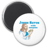 JESUS SAVES WITH COUPONS REFRIGERATOR MAGNET
