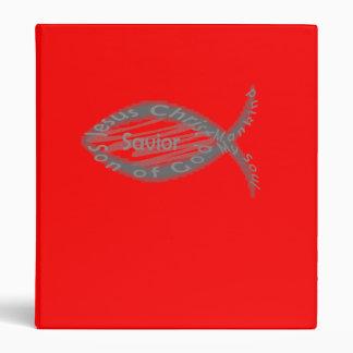 Jesus Savior Christian Fish Symbol 3 Ring Binders