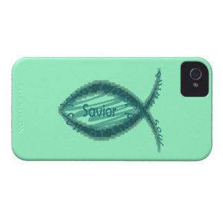Jesus Savior Christian Fish Symbol iPhone 4 Case-Mate Cases