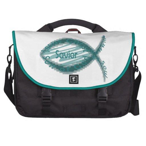 Jesus Savior Christian Fish Symbol Computer Bag