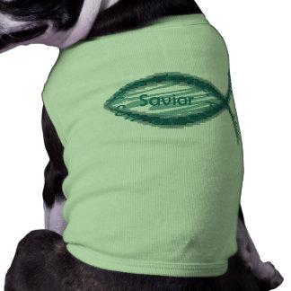 Jesus Savior Christian Fish Symbol Doggie Tshirt