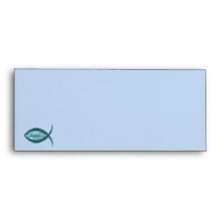 Jesus Savior Christian Fish Symbol Envelope