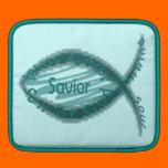 Jesus Savior Christian Fish Symbol Sleeves For iPads