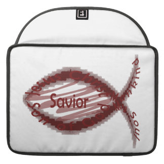 Jesus Savior Christian Fish Symbol Sleeves For MacBook Pro