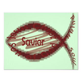 Jesus Savior Fish Symbol Card