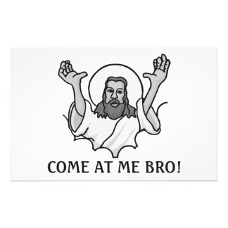 Jesus Says Come At Me Bro Stationery Paper