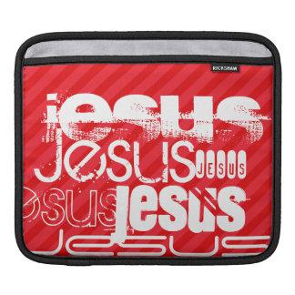 Jesus; Scarlet Red Stripes iPad Sleeve