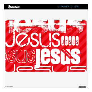 Jesus; Scarlet Red Stripes MacBook Decals