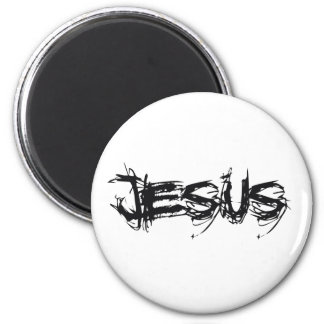 Jesus Scratch Noir Magnet