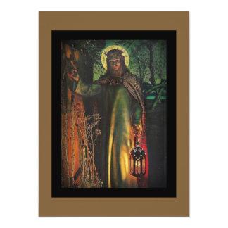 """Jesús se coloca en la puerta y golpea invitación 5.5"""" x 7.5"""""""