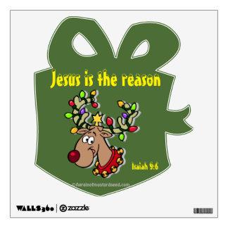 Jesus Season Christmas Wall Decal