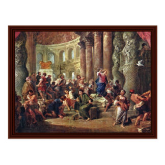 Jesus Sells The Merchants From The Temple Post Card