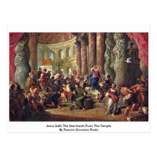 Jesus Sells The Merchants From The Temple Post Cards