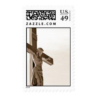 Jesus sepia postage stamp