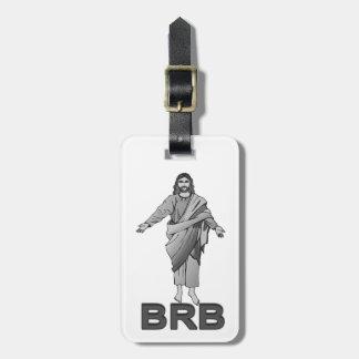 Jesús será parte trasera derecha etiqueta para equipaje