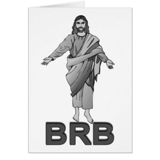 Jesús será parte trasera derecha tarjetas