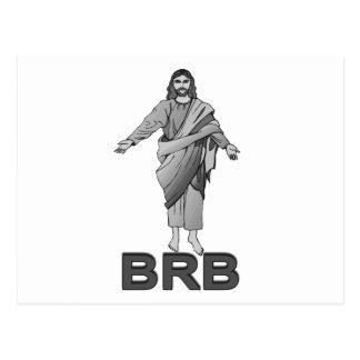 Jesús será parte trasera derecha tarjetas postales