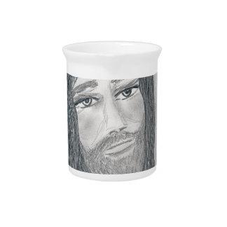 Jesús sereno jarra para bebida