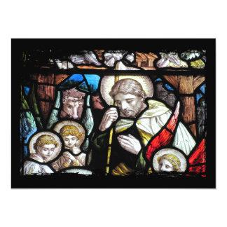 Jesus Shepherd Stained Glass Art Card