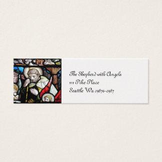 Jesus Shepherd Stained Glass Art Mini Business Card
