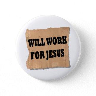 Jesus Sign (Button) button