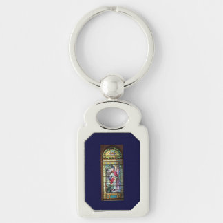 Jesus Silver-Colored Rectangular Metal Keychain