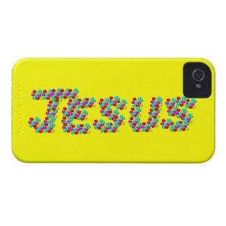 JESUS - Smiley Faces iPhone 4 Case-Mate Case