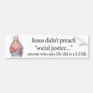Jesus Social Justice sticker Car Bumper Sticker