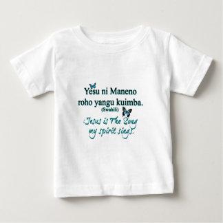Jesus song swahili transparent baby T-Shirt