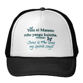 Jesus song swahili transparent trucker hat