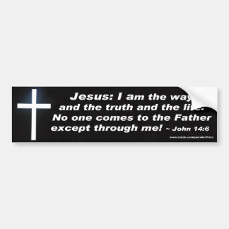 Jesús soy la pegatina para el parachoques de la ma pegatina para auto