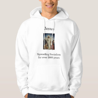 Jesus spreading Socialism Hooded Pullovers