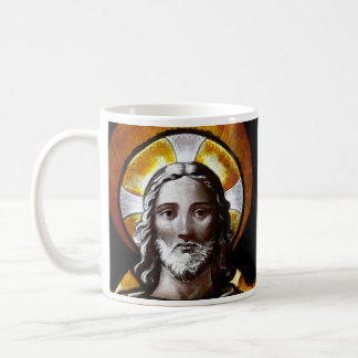 Jesus (stained glass), /Mug size 11oz Coffee Mug