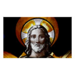 Jesus (stained glass) /Poster Poster