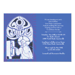 Jesus Stained Glass Religious Invitation