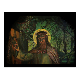 Jesus Stands at Door and Knocks Postcard