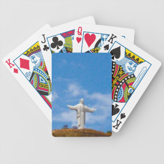 Jesus Statue in South America Bicycle Playing Cards