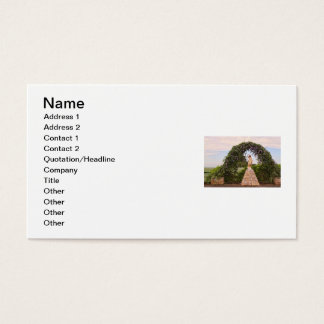 Jesus Statue with Beautiful Flowers Business Card