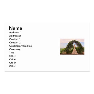 Jesus Statue with Beautiful Flowers Double-Sided Standard Business Cards (Pack Of 100)