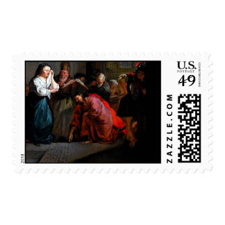 Jesus stooped down & wrote on the ground postage