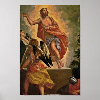 Jesús sube de la tumba póster
