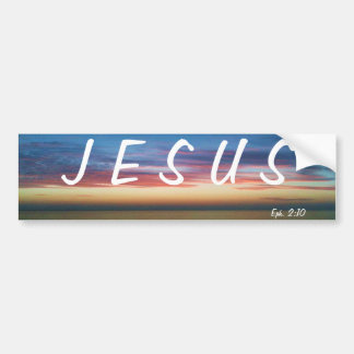 JESUS SUNRISE BUMPER STICKER