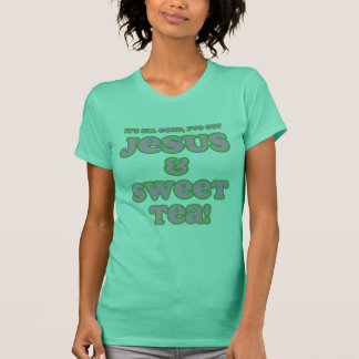 Jesus & Sweet Tea Shirt pink