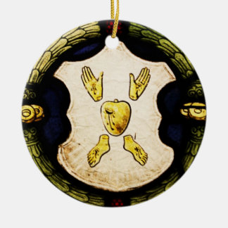 Jesus Symbols on stained glass ornament